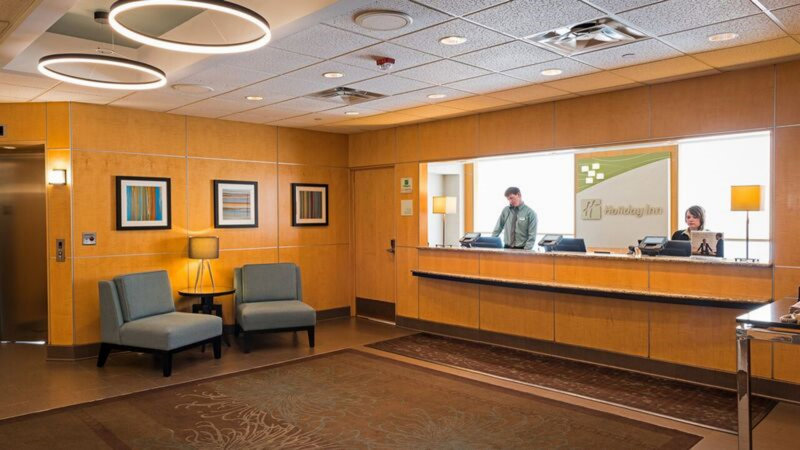 Holiday Inn St. Paul Downtown-Front desk staff available 24 hours<br/>Image from Leonardo