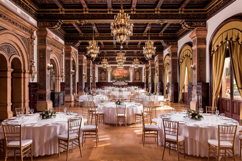 Hotel Alfonso XIII; a Luxury Collection Hotel Seville-Real Meeting Room - Banquet Setup<br/>Image from Leonardo
