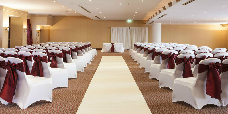 Crowne Plaza Liverpool John Lennon Airport-Areial Suite, set up for a wedding ceremoney<br/>Image from Leonardo
