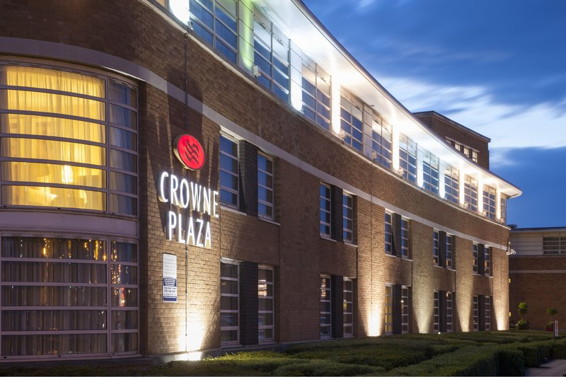 Crowne Plaza Liverpool John Lennon Airport-Floodlit Exterior<br/>Image from Leonardo