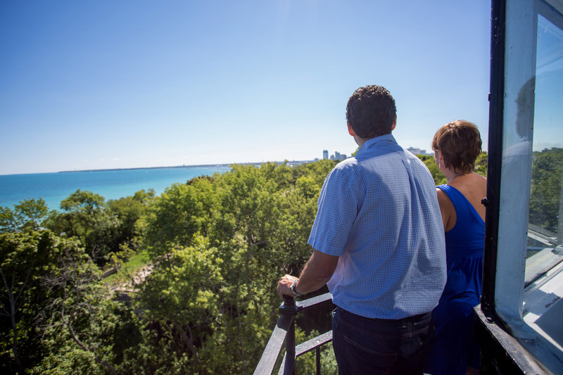 Crowne Plaza Milwaukee Airport-View from Northpoint Light House<br/>Image from Leonardo