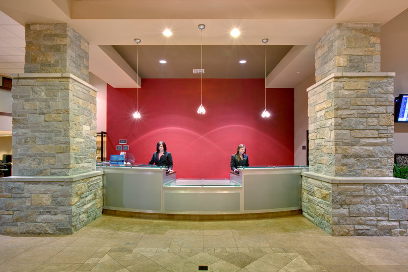 Crowne Plaza Milwaukee Airport-Crowne Plaza Milwaukee Airport Hotel Front Desk<br/>Image from Leonardo