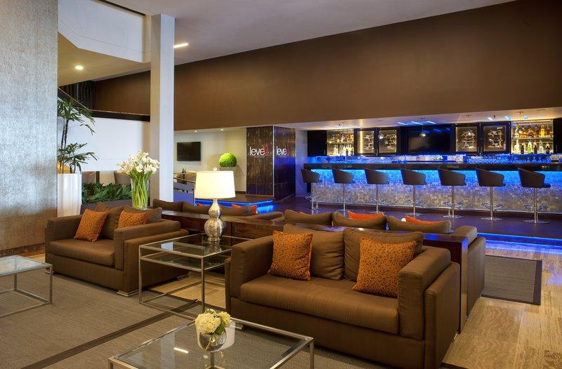 Crowne Plaza Santo Domingo-Level 1. Beautiful View of the Lobby Area and Lobby Bar<br/>Image from Leonardo