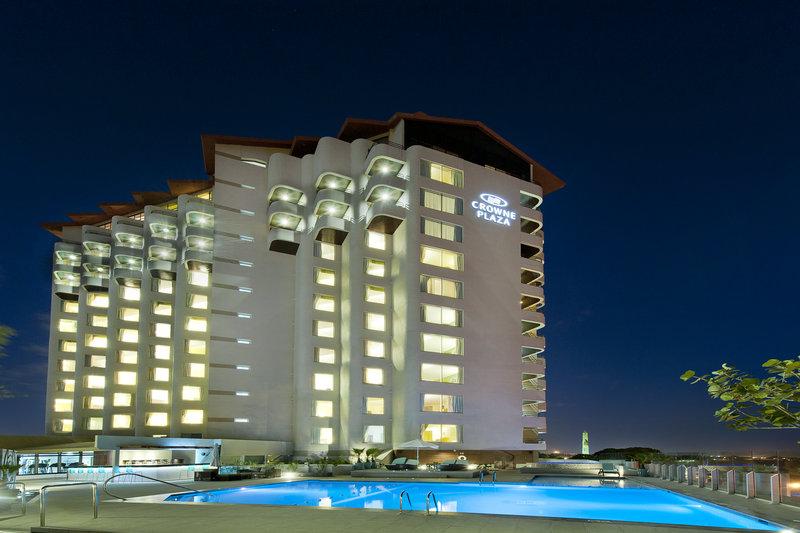 Crowne Plaza Santo Domingo-Hotel and Pool Area - Night View<br/>Image from Leonardo