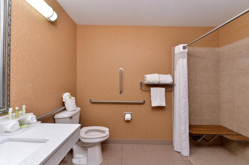 Holiday Inn Express & Suites Cincinnati - Blue Ash-Guest Bathroom<br/>Image from Leonardo