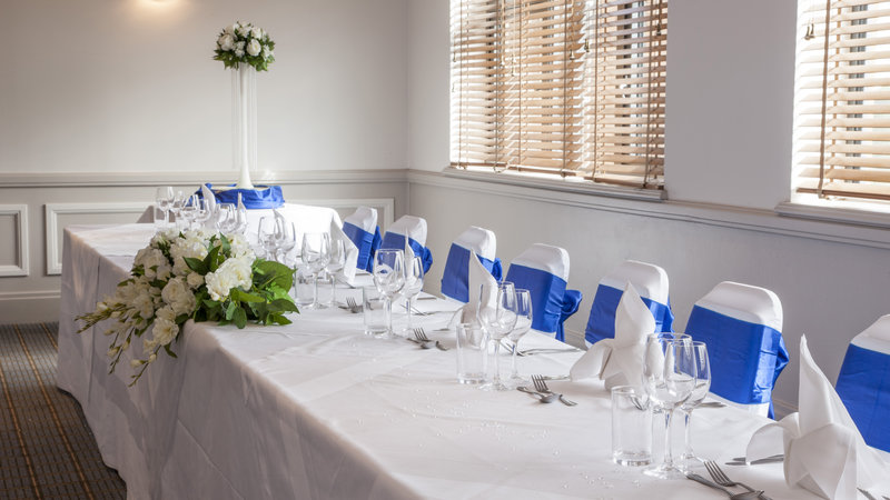 Holiday Inn Chester South Hotel-Wedding Breakfast Set Up<br/>Image from Leonardo