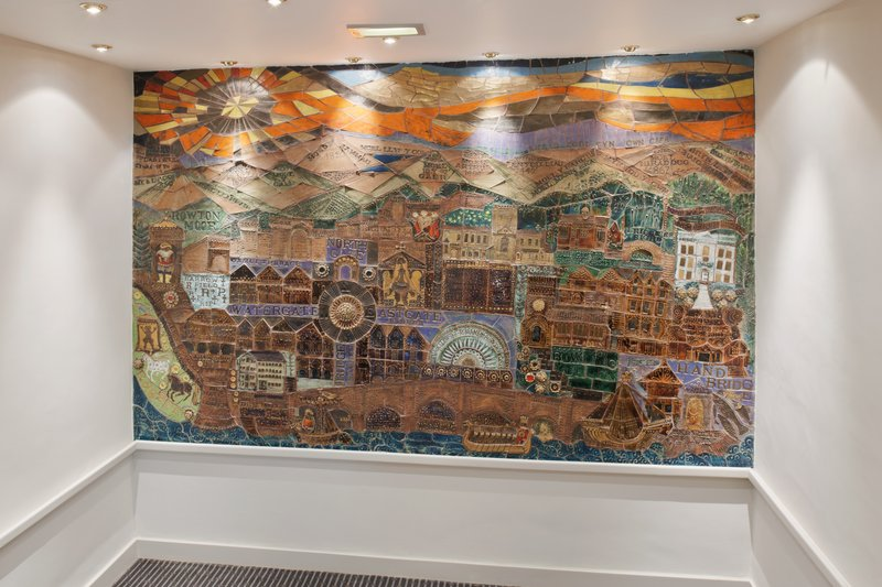 Holiday Inn Chester South Hotel-Mural of Chester located in the Lobby Area<br/>Image from Leonardo