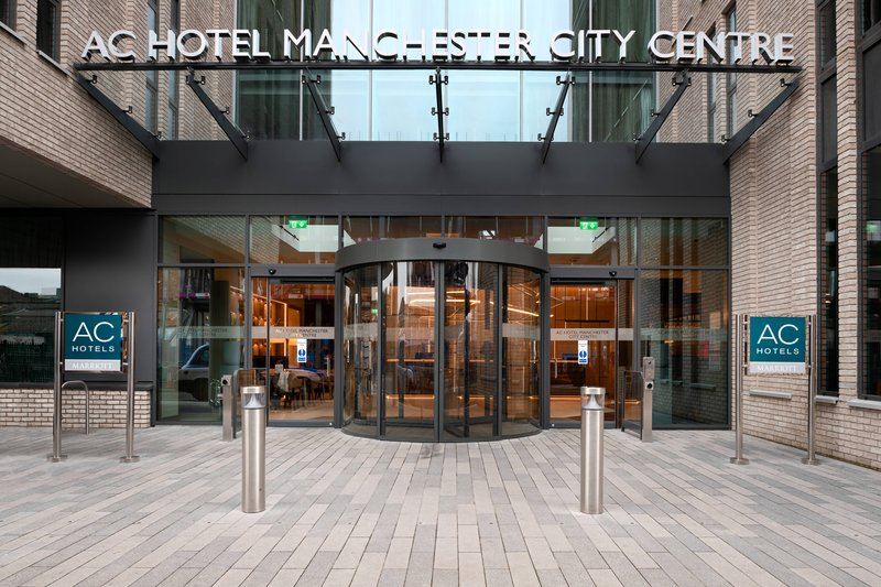 AC Hotel by Marriott Manchester City Centre-Entrance<br/>Image from Leonardo