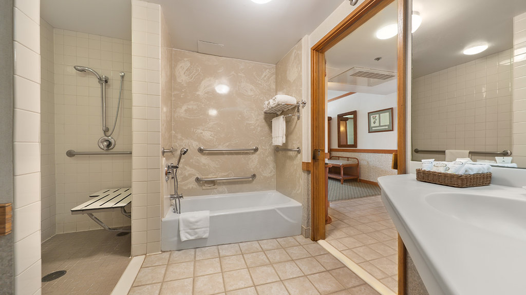 Kaanapali Beach Hotel  - Bathroom ADA <br/>Image from Leonardo