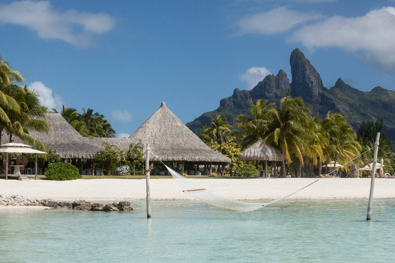 St Regis Resort Bora Bora - Beach and Te Pahu <br/>Image from Leonardo