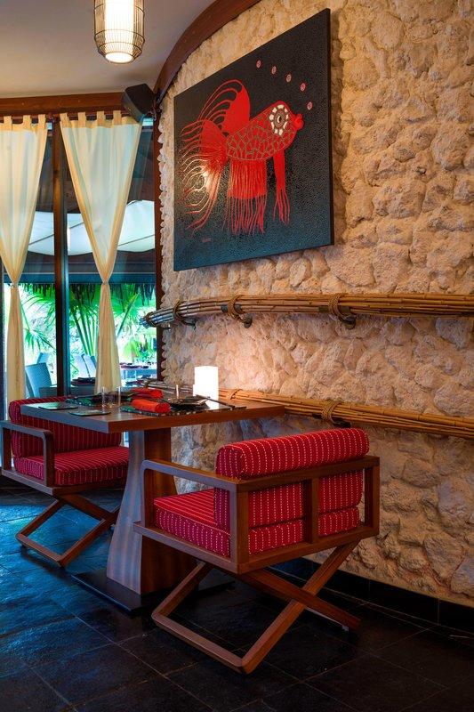 St Regis Resort Bora Bora - Bam Boo Restaurant <br/>Image from Leonardo