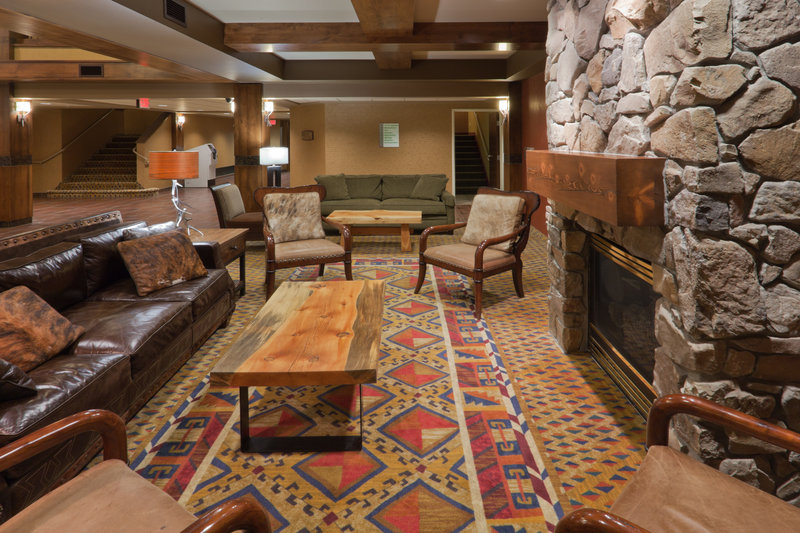 Holiday Inn West Yellowstone-Holiday Inn West Yellowstone's cozy lobby fireplace<br/>Image from Leonardo