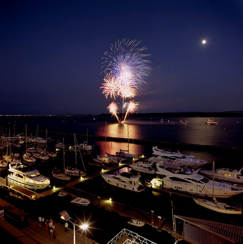 Holiday Inn Express Poole-Fireworks on Poole Quay Credit Sue Sieger<br/>Image from Leonardo