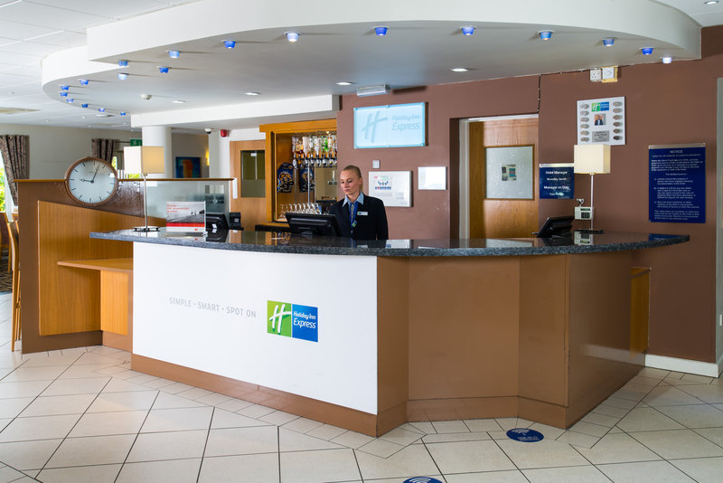 Holiday Inn Express Swansea - East-Our friendly Reception team are at hand 24/7 for your convenience<br/>Image from Leonardo