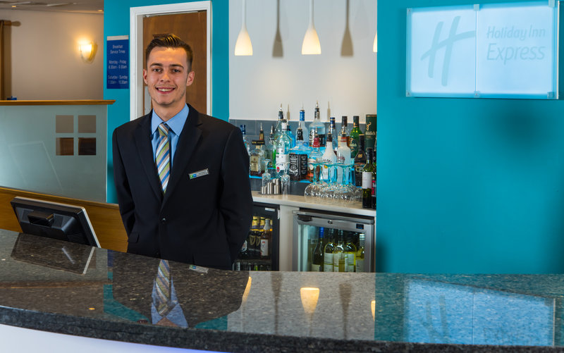 Holiday Inn Express Lichfield-Our helpful Reception team are available round the clock<br/>Image from Leonardo