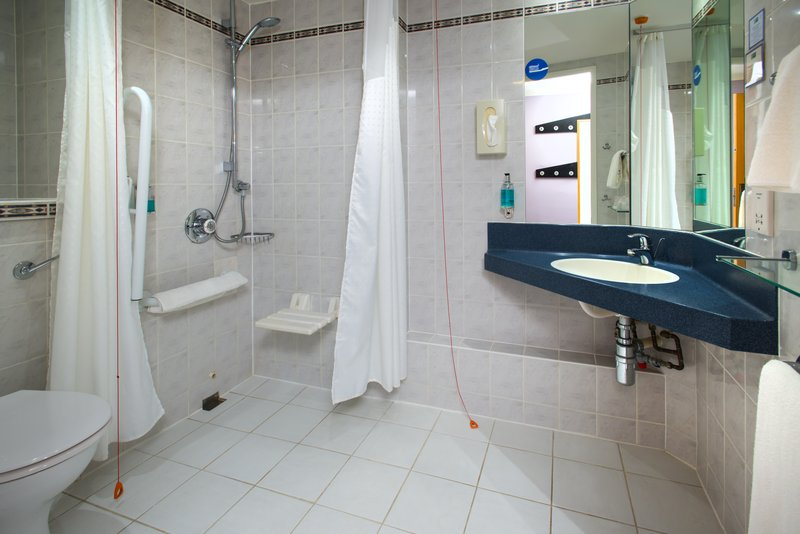 Holiday Inn Express Stafford M6 Jct 13-Guest Bathroom<br/>Image from Leonardo