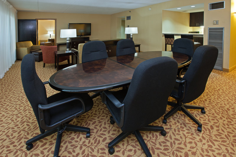 Holiday Inn Evansville Airport-Our parlor suite is perfect for your small meeting or family time<br/>Image from Leonardo