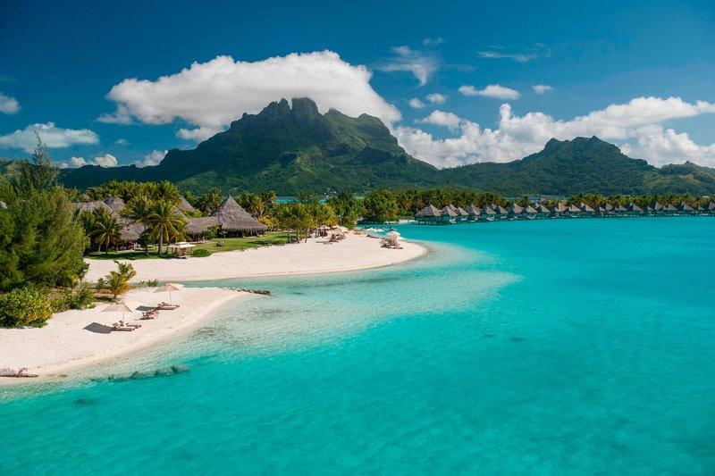 St Regis Resort Bora Bora - Exterior - Main beach <br/>Image from Leonardo