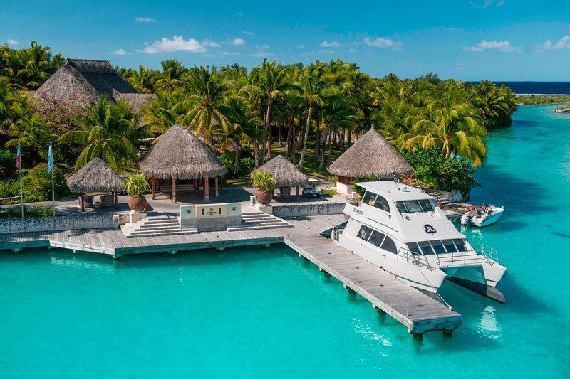 St Regis Resort Bora Bora - Arrival Dock <br/>Image from Leonardo