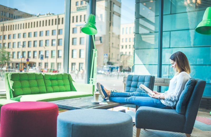Holiday Inn Helsinki City Centre-Our Lobby is your living room and home away from home.<br/>Image from Leonardo