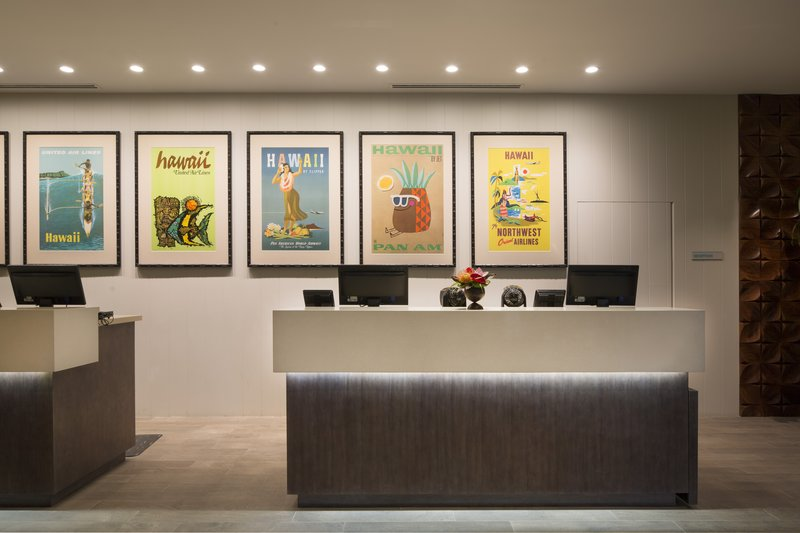 Queen Kapiolani Hotel - Front Desk <br/>Image from Leonardo