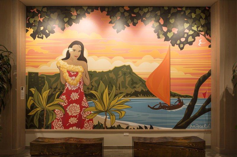 Queen Kapiolani Hotel - QKHLobby Art <br/>Image from Leonardo