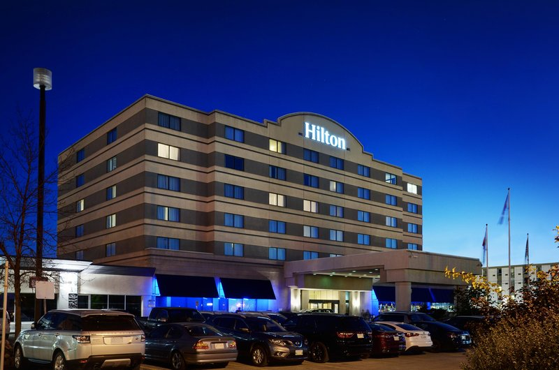 Hilton Winnipeg Airport Suites-Exterior Night<br/>Image from Leonardo
