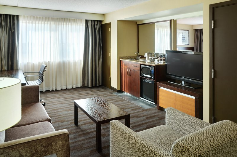 Hilton Winnipeg Airport Suites-King Suite Living Area<br/>Image from Leonardo