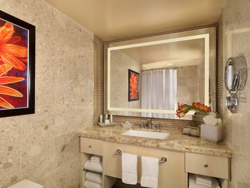 The Mirage Hotel and Casino - Deluxe Room Bathroom <br/>Image from Leonardo