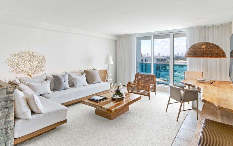 1 Hotel South Beach-1-Bedroom Suite (1BSTE) living<br/>Image from Leonardo