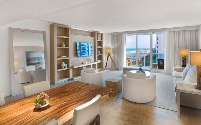 1 Hotel South Beach-1/2/3-Bedroom Home Ocean View Balcony (1/2/3HOVB) living<br/>Image from Leonardo