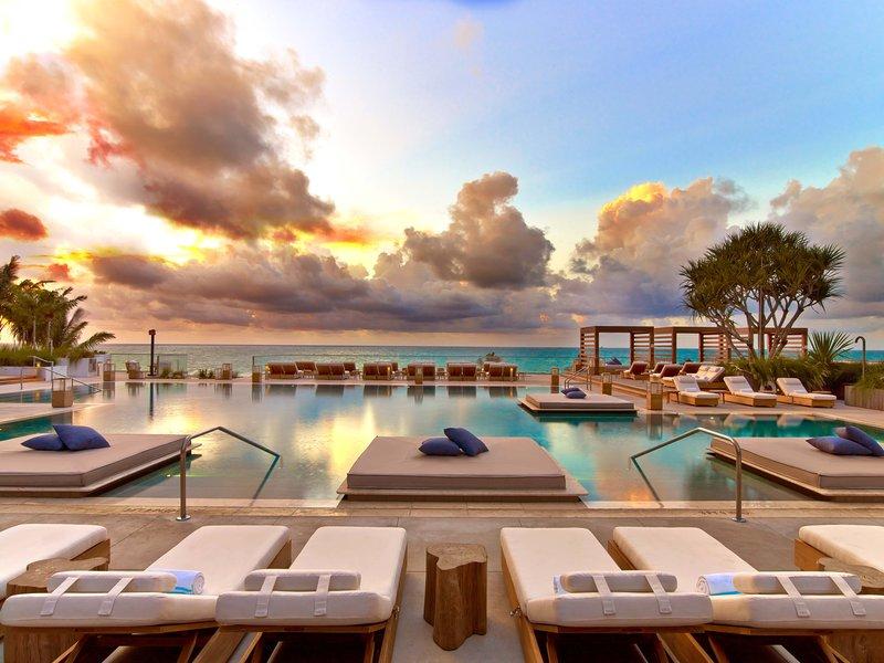 1 Hotel South Beach-Main Pool Sunrise<br/>Image from Leonardo
