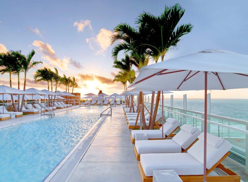 1 Hotel South Beach-Rooftop Pool Sunrise<br/>Image from Leonardo