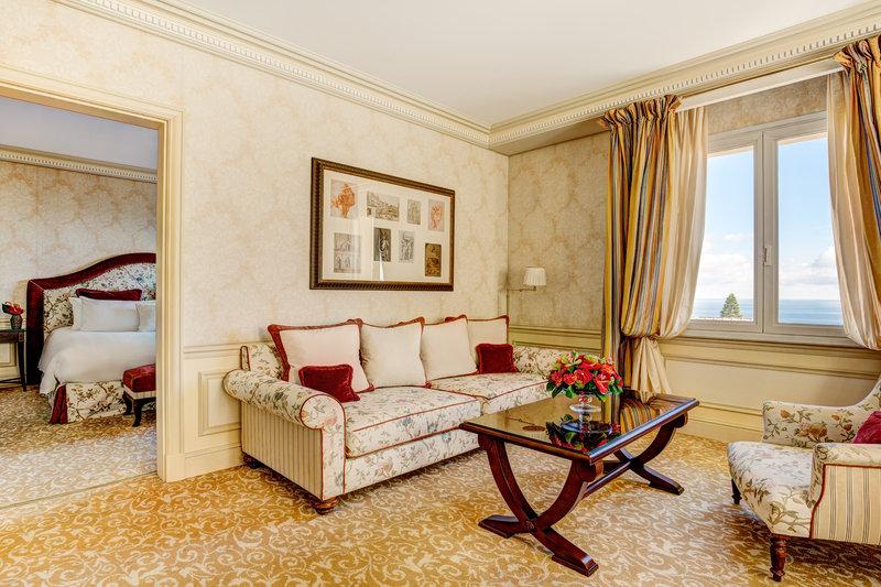 HOTEL METROPOLE MONTE CARLO-Deluxe Suite living & bedroom<br/>Image from Leonardo