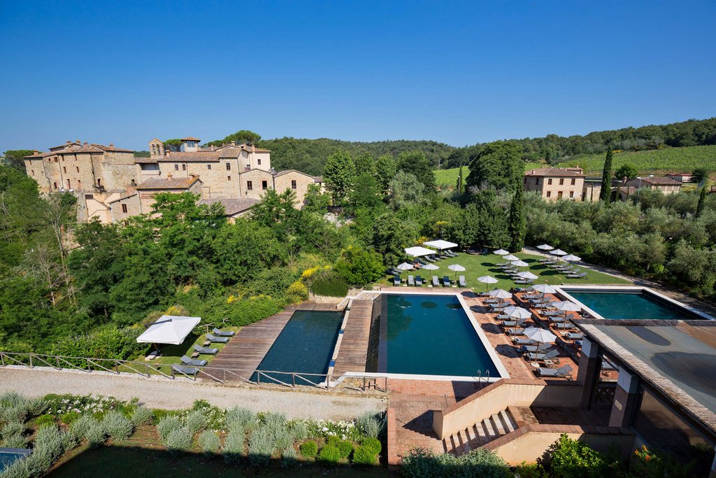 Castel Monastero-Pools<br/>Image from Leonardo