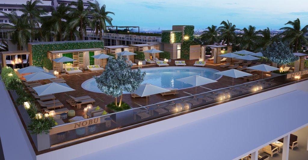 Nobu Hotel Miami Beach - Nobu Pool Render West View <br/>Image from Leonardo
