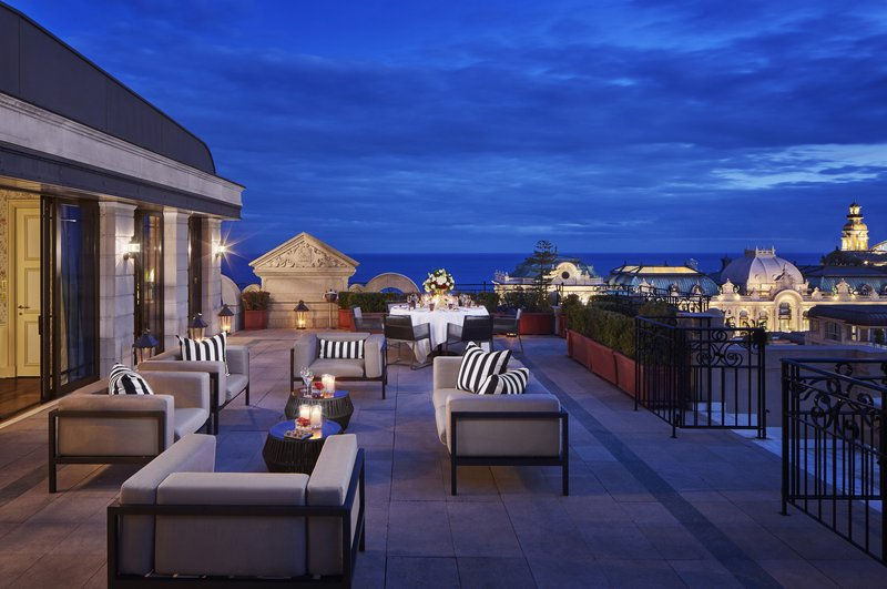 HOTEL METROPOLE MONTE CARLO-Carré d'Or Suite terrace by night<br/>Image from Leonardo