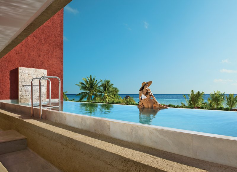 Zoetry Paraiso La Bonita - Impression Ocean Front Two Bedroom Presidential Suite with Private Pool-private pool <br/>Image from Leonardo