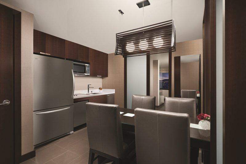 Vdara Hotel & Spa at Aria Las Vegas - City Corner Suite Kitchen <br/>Image from Leonardo