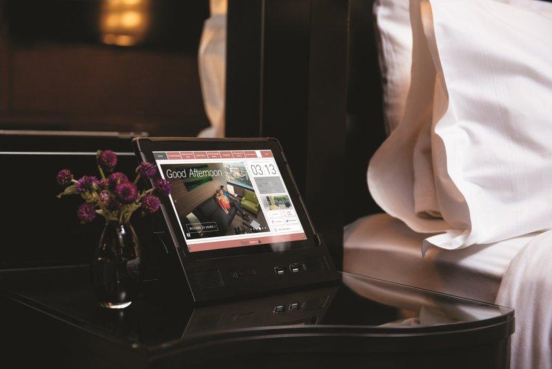 Vdara Hotel & Spa at Aria Las Vegas - Vdara Room Amenity Bedside Tablet <br/>Image from Leonardo
