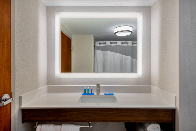 Holiday Inn Express Chapel Hill-Enjoy a well-lit vanity to start your day!<br/>Image from Leonardo