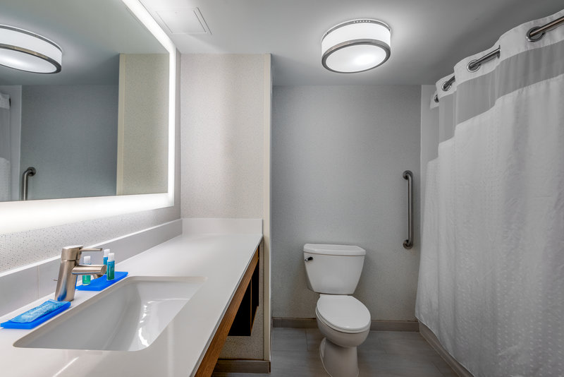 Holiday Inn Express Chapel Hill-Spread out in our spacious bathrooms!<br/>Image from Leonardo