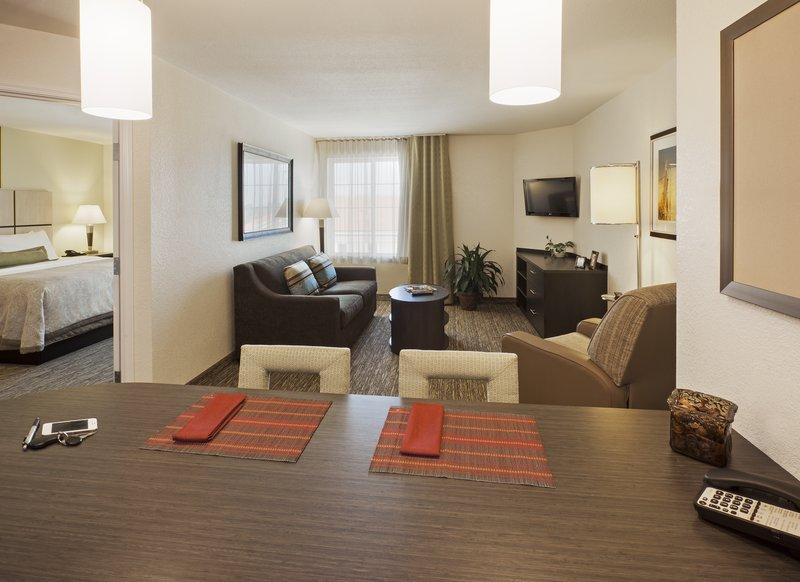 Candlewood Suites Santa Maria-One bedroom suite offering separate living & sleeping areas <br/>Image from Leonardo