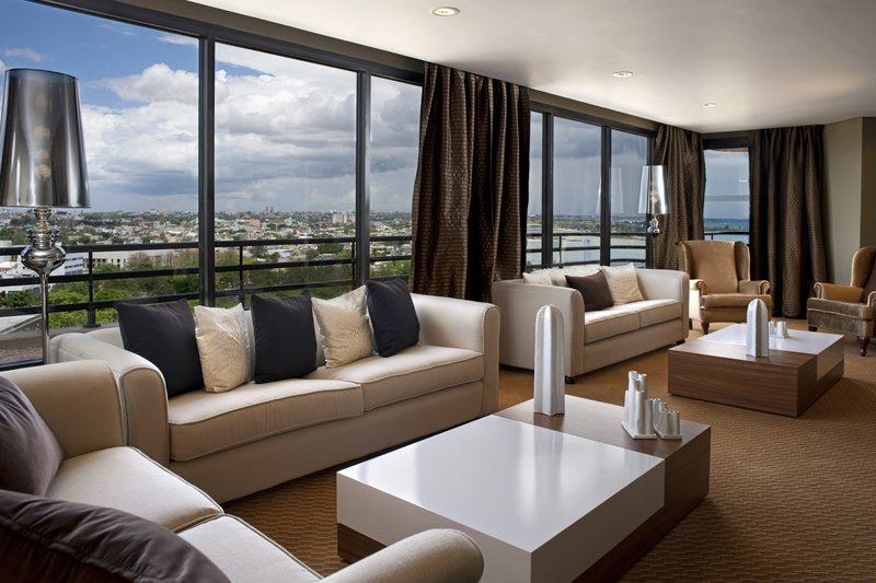 Crowne Plaza Santo Domingo-Luxurious Presidential Suite. Main Living Area. First level.<br/>Image from Leonardo