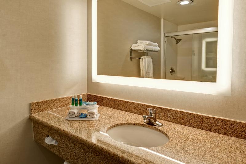 Holiday Inn Express Newport Beach-Guest Bathroom<br/>Image from Leonardo