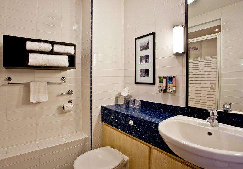 Holiday Inn Express Shrewsbury-Modern Guest Bath<br/>Image from Leonardo