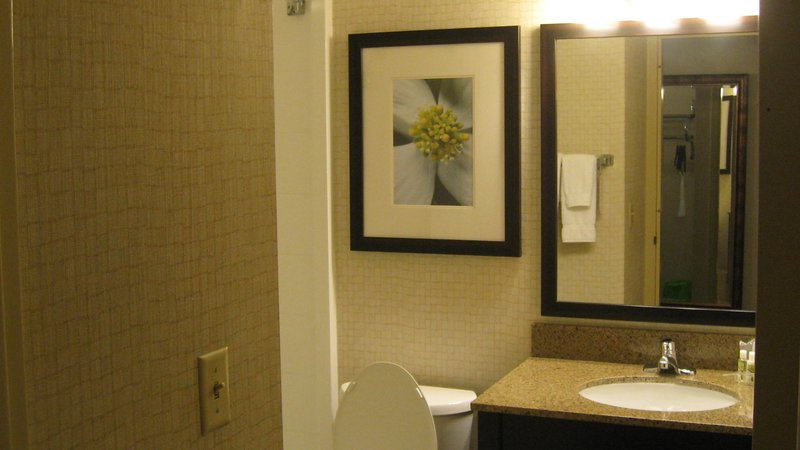 Holiday Inn Elmira - Riverview-Get Ready in Comfort in a Holiday Inn Elmira Guest Bathroom<br/>Image from Leonardo
