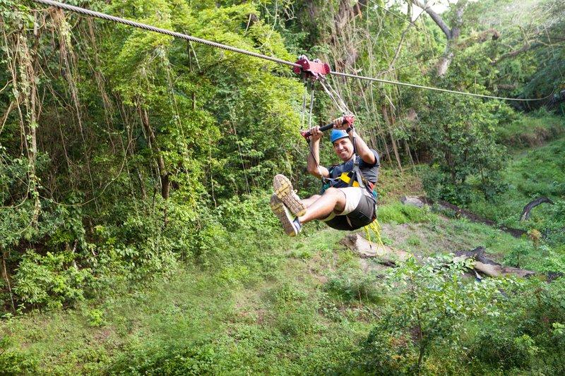 St. Kitts Marriott Resort-Ziplining in St. Kitts<br/>Image from Leonardo