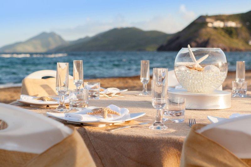 St. Kitts Marriott Resort-Outdoor Beach Event - Banquet Setup<br/>Image from Leonardo