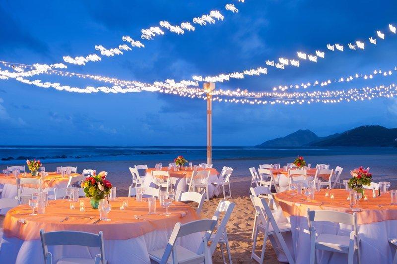 St. Kitts Marriott Resort-Beach Reception - Banquet Setup<br/>Image from Leonardo